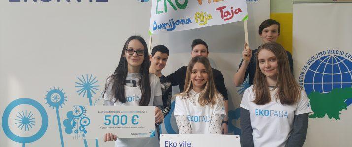 Eko vile dosegle 4. mesto in 500 €