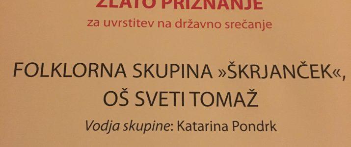 FS Škorjanček na državnem srečanju folklornih skupin